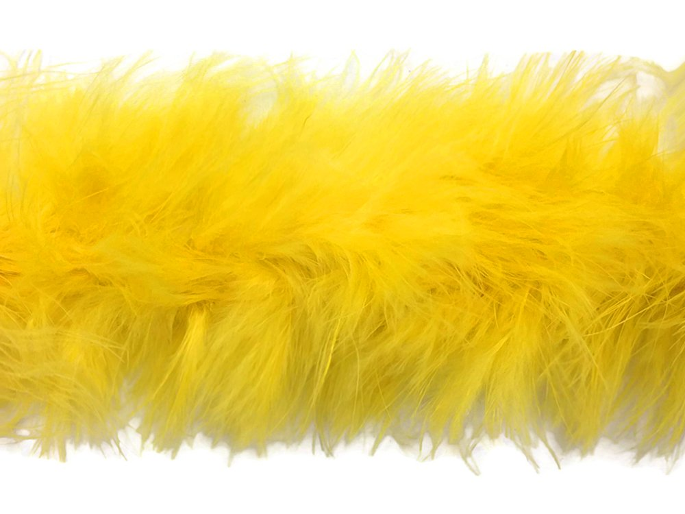 2 Yards Pale Yellow Turkey Medium Weight Marabou Feather Boa 25 Gram Costume