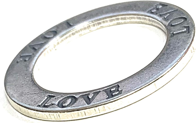 Zoe and Piper Circle Love Sterling Silver Pendant