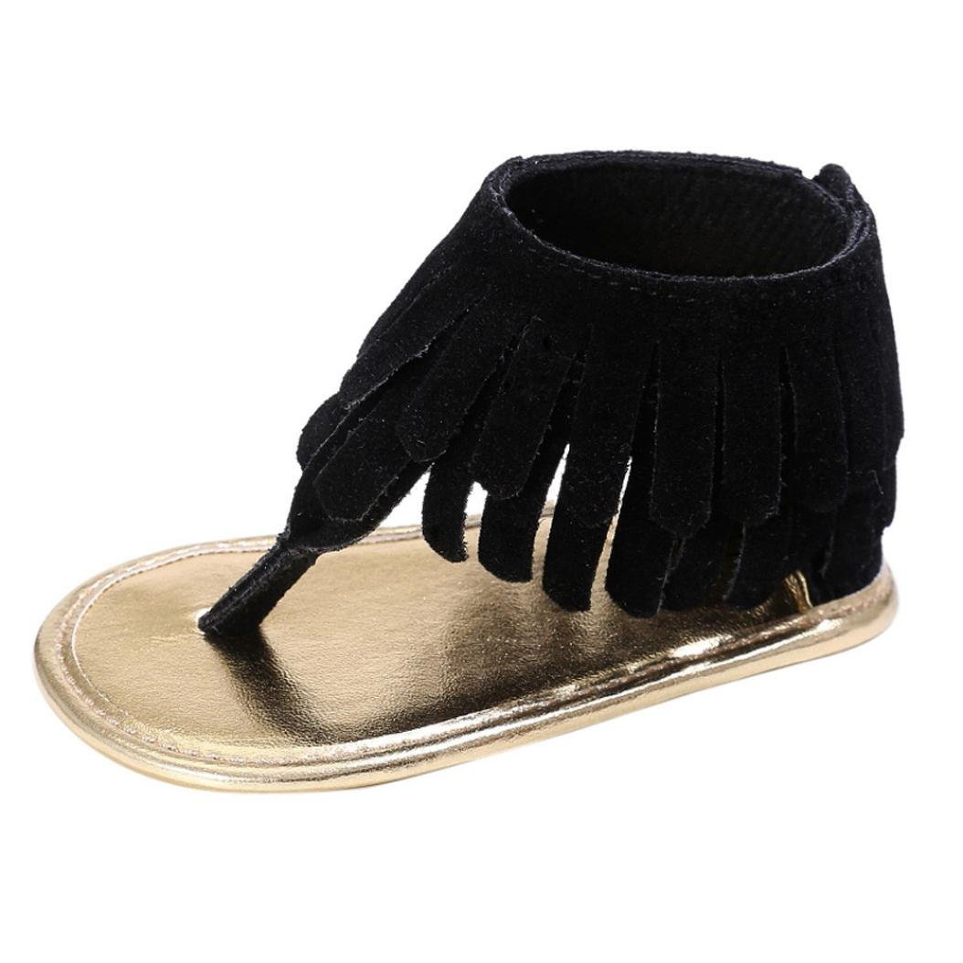 ❤️Chaussures de Bébé Sandales, Amlaiworld Été Enfant Fleur Ssemelle Molle Sandales Chaussures de Fille Sneakers Anti-dérapantes pour Bébés Pour 0-18 Mois (11/0-6Mois, Orange) Amlaiworld Bébé Chaussures