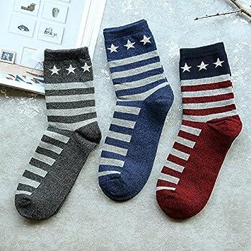 Calcetines ZYTAN, hombre de calcetines, medias de algodón puro, rayas calcetines calcetines,