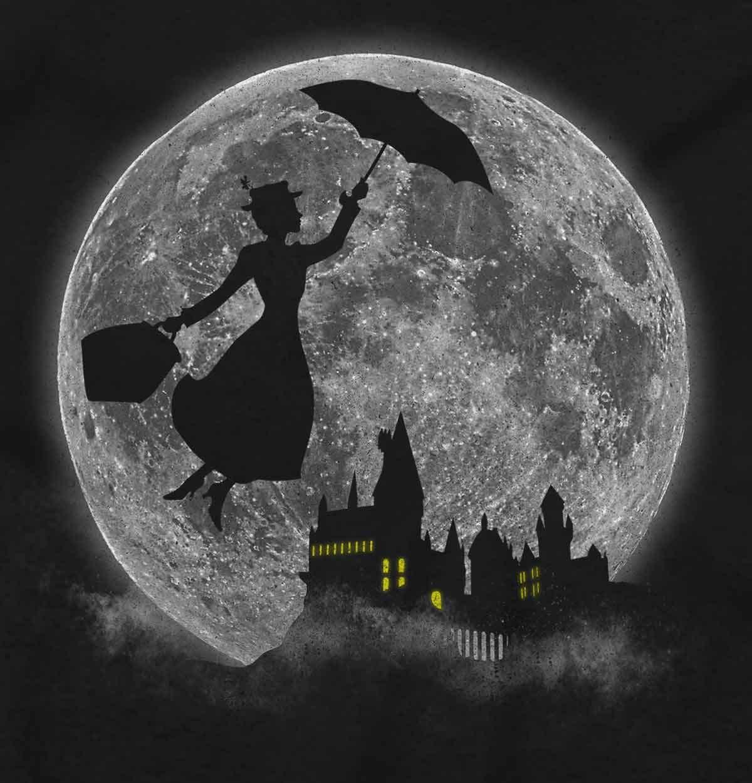Mary Poppin Walt Disney Funny Shirt Cute Harry Potter Hogwart T-Shirt Tee by Brisco Brands (Image #2)