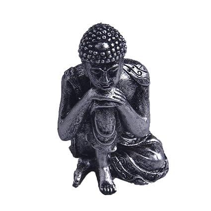 Amazon.com: Estatua de Buda de polirresina con diseño de ...