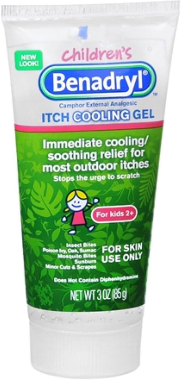 Benadryl Children's Itch Cooling Gel 3 oz (Pack of 5)
