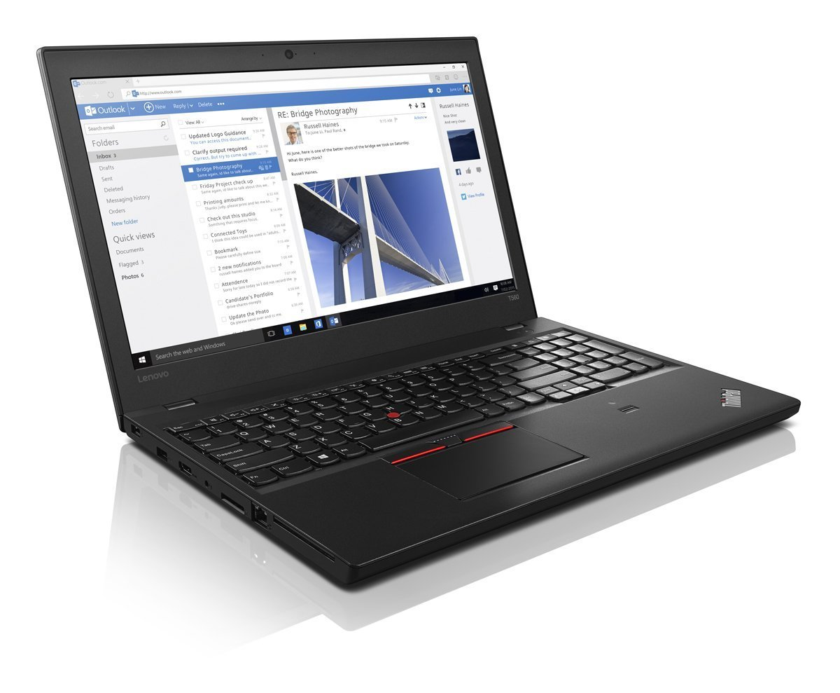 Lenovo Thinkpad Business-Ready Laptop T560 FHD (15.6'', i5-6200U 2.3GHz, 8GB RAM, 500GB 7200rpm, Backlit Keyboard, Webcam, Fingerprint Reader, Windows 7 Pro Downgradeable Windows 10 Pro) by Lenovo (Image #1)