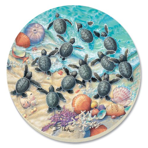 CounterArt Turtle Hatchlings Absorbent Coasters