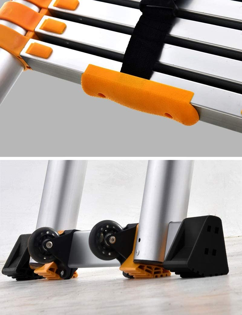 DD Escalera de Espiga 3.4-8.2M Escalera Telesc/ópica Escalera Telesc/ópica de Aluminio Tall Multi Prop/ósito Pesado M/áx. Color : 1.7+1.7=straight 3.4m
