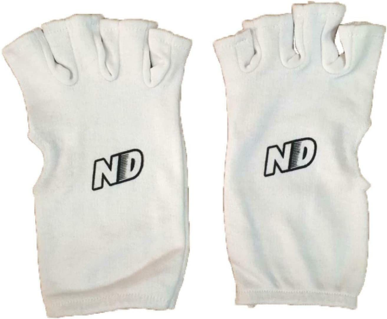 Cotton Inner Gloves Youths or Adult ND Cricket Fingerless Batting Inners