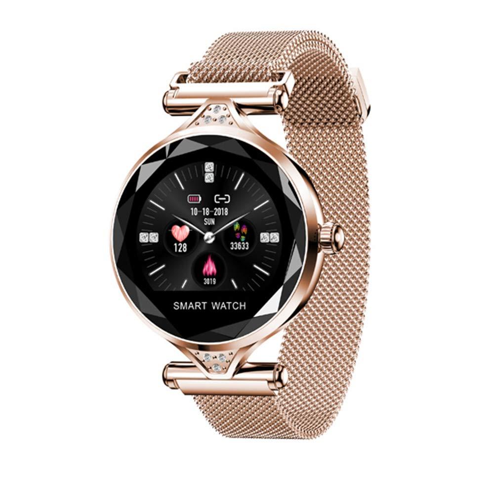 Or Bracelet pour Femmes Smart Bracelet écran Rond écran Continu Fréquence Cardiaque Dames De La Mode Santé Rappel Intelligent Sports Watch Health Tracker