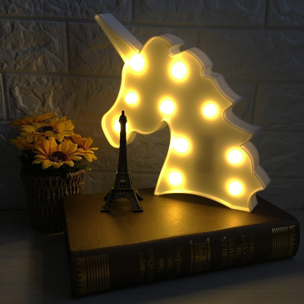 Unicorn Night light, Lamp Kids Marquee Letter Lights Unicorn shape ...