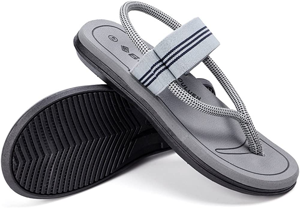 Men Flip Flops Thong Slipper Beach Arch Support Black Flat Comfort Sandals