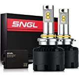 SNGL Super Bright LED Headlight Bulbs Conversion Kit - Adjustable-Beam - 9005 ( H10, HB3, 9145 )- 110w 12,400Lm - 6000K Bright White - 2 Yr Warranty - For Dodge Ram Jeep Chrysler GMC Silverado