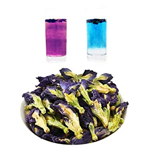 Dried Butterfly Pea Flower Tea Natural Organic Butterfly Blue Tea Flower Caffeine Free Herbal Tea Anti-oxidant Hand-Harvested from Thailand