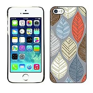 TopCaseStore / la caja del caucho duro de la cubierta de protección de la piel - Fall Autumn Brown Red Blue White - Apple iPhone 5 / 5S