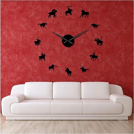xtmyz Relojes de Pared Bricolaje Juegos de Polo Polo Sport Pony ...