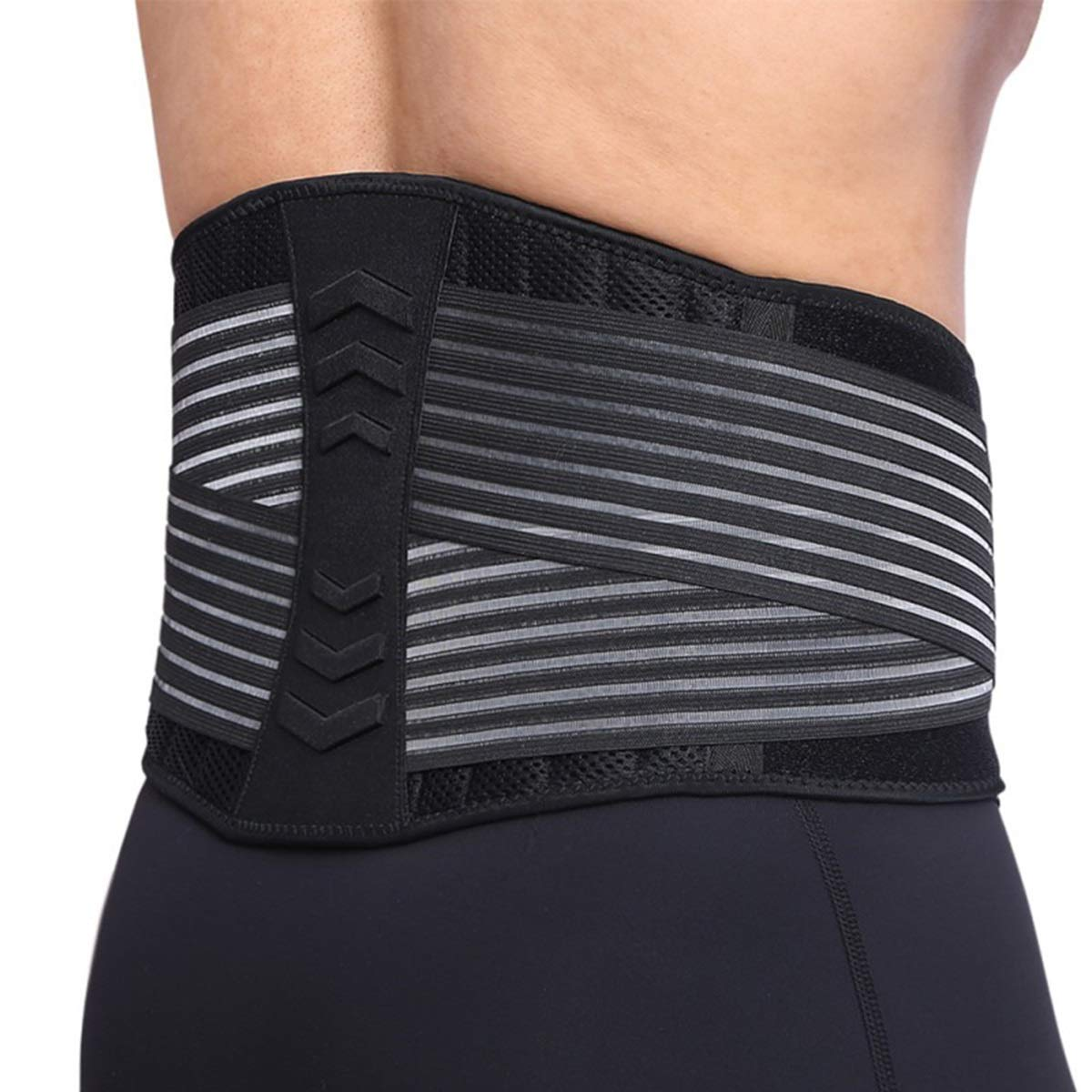 Adjustment Back Brace Lumbar Support Belt Breathable Lower Back Pain Relief Lifting Work Waist Protection for Men & Women (Size : M) by Yesbaby