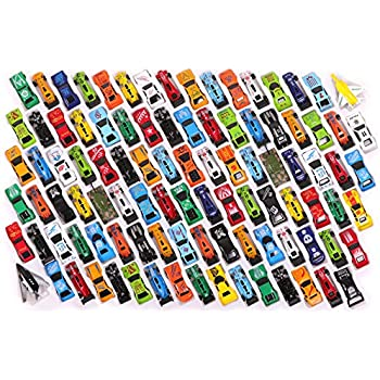 Kangaroo Diecast Cars, Trucks, Planes Helicopters (100 Pack) Birthday Party Favors, Toy Assortment; Cake Toppers; Easter Eggs Fillers, Stocking Stuffers