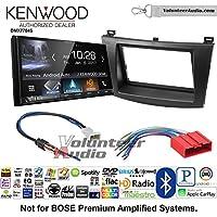 Volunteer Audio Kenwood DMX7704S Double Din Radio Install Kit with Apple CarPlay Android Auto Bluetooth Fits 2010-2013 Mazda 3