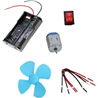 DIY Student Experiment Series-Electrical (3V) DC Motor Fan Circuit Educational School Science Toy Kit -MixBox