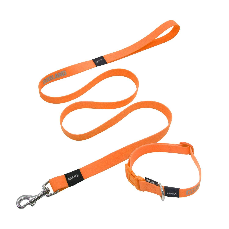 orange 3860cm orange 3860cm YSDTLX Dog Collar Anti-Lost Light Pet Traction Rope Set Size Dog, orange, 3860Cm