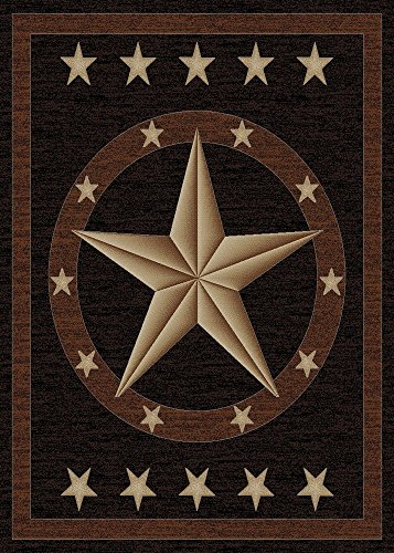 Rugs of Dalton HS3683-0810 Western Rug, 8′ x 10′, Star Review