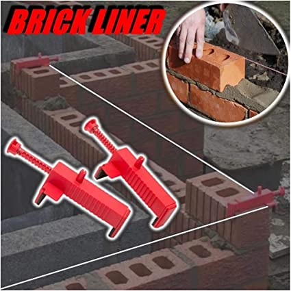Brick Liner Runner Wire Drawer Bricklaying Tool Fixer Building Construction 2PCS