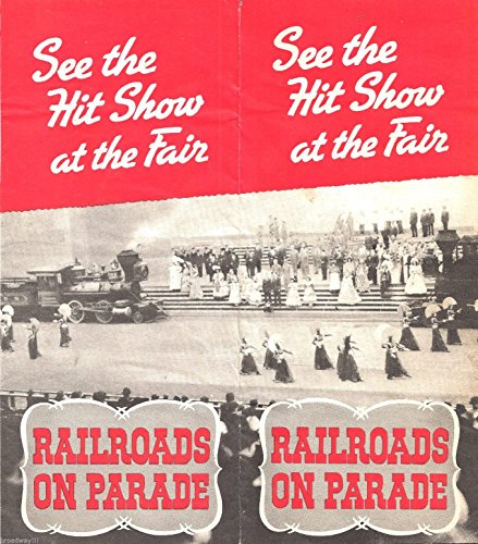 "Kurt Weill ""RAILROADS ON PARADE"" New York World's Fair 1940 Brochure / Flyer"