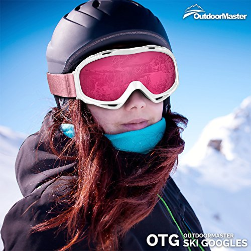 0839d1f48f0 OutdoorMaster OTG Ski Goggles - Over Glasses Ski   Snowboard Goggles ...