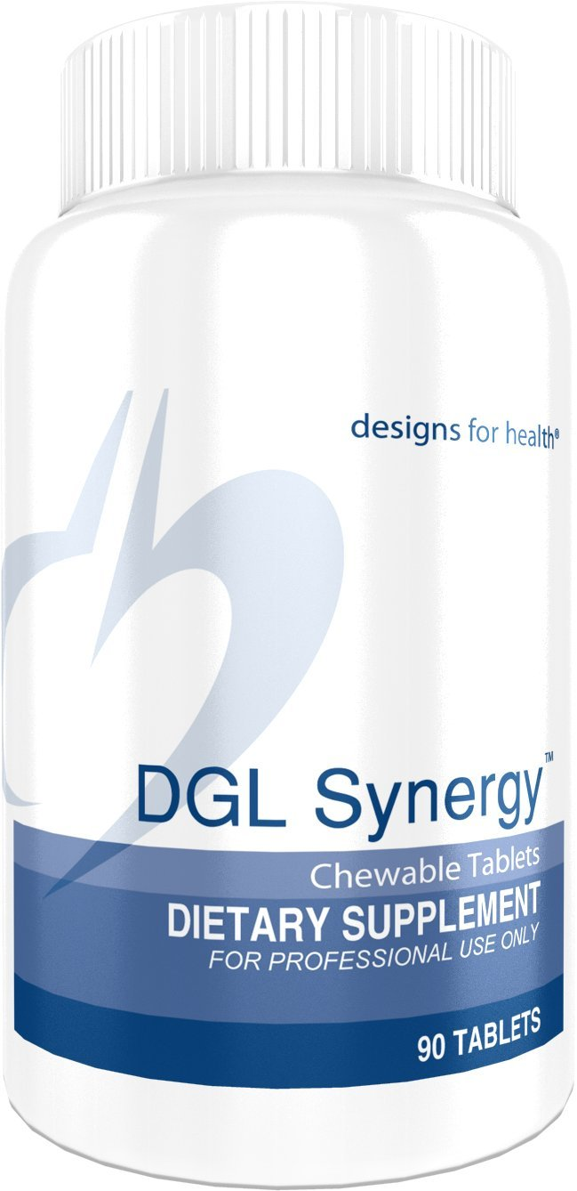 Designs for Health - DGL Synergy - 500mg Licorice Root, Deglycyrrhizinated + No Sugar, 90 Tablets