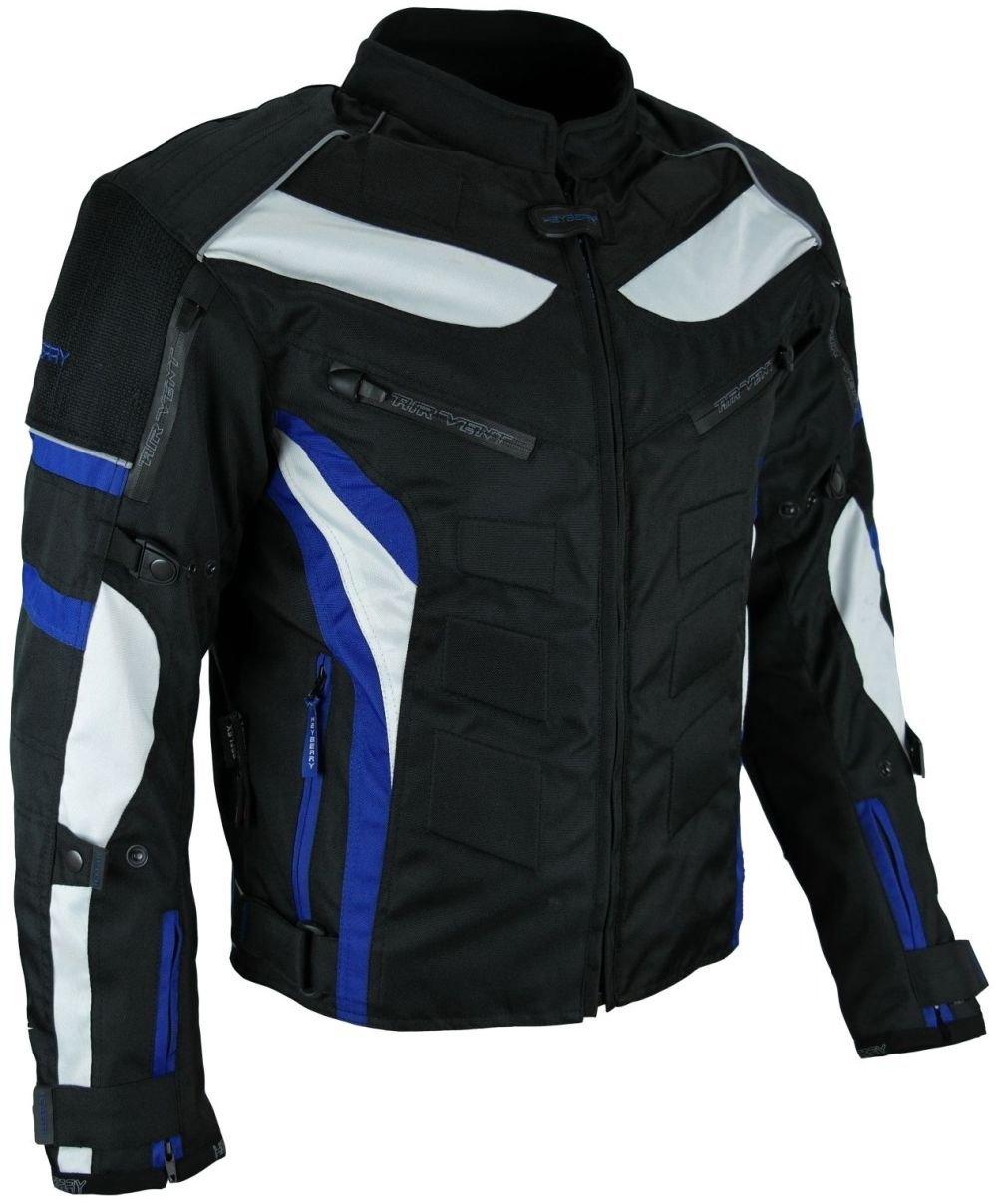 Heyberry Textil Motorrad Jacke Motorradjacke Schwarz Blau Gr. M 20007