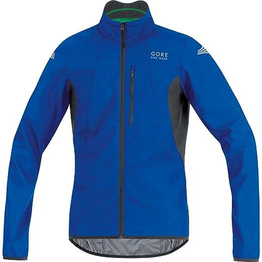 GORE BIKE WEAR Mens Cycling Jacket, Super-Light, GORE WINDSTOPPER, WS AS Jacket, Size S, Brilliant Blue/Black, JELECO