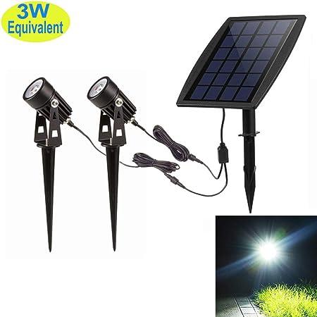 1x Solar Garden Lamp 4 LEDs Spot Light Outdoor Lawn Landscape Spotlight Lighting