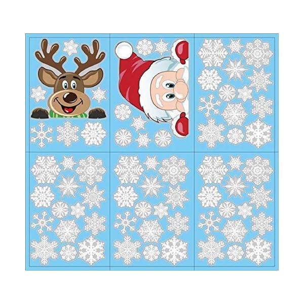 Adesivi Decorativi Natalizi,Yuson Girl Romantic Atmosphere Natale Fiocchi Di Neve Finestra Decori Adesivi per Natale Partito Casa Bambini Decor 6 spesavip
