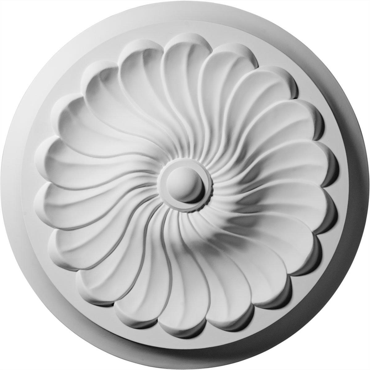 Ekena Millwork CM12FL 12 1/4-Inch OD x 2 1/4-Inch Flower Spiral Ceiling Medallion