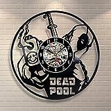 Deadpool Movie Vinyl Record Clock Home Design Room Art Decor Handmade Vintage