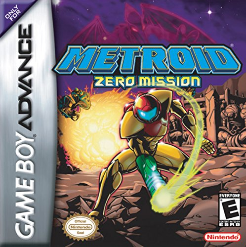 Metroid Zero Mission (Game Boy Advance, GBA) - Reproduction Video Game Cartridge with Plastic Carrying Case & Mini Manual (Boy Metroid Game)