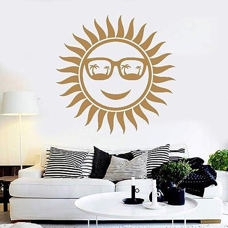 Calcomanías de pared positivas para el sol Gafas con palmas ...