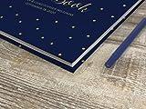 Customized PurpleTrail Guest Book, Wedding Guest