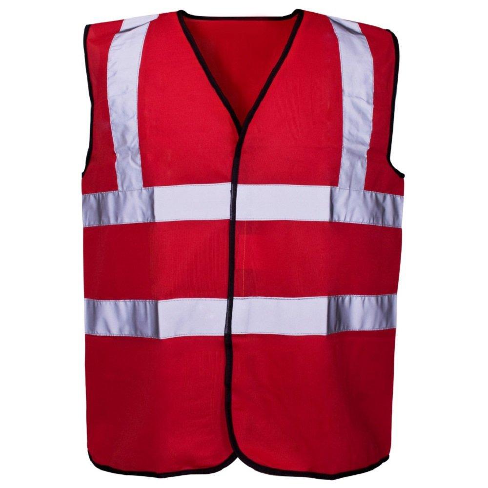 Hi Vis Coloured Vest Waistcoats Vests - Yellow Orange Pink Green Navy