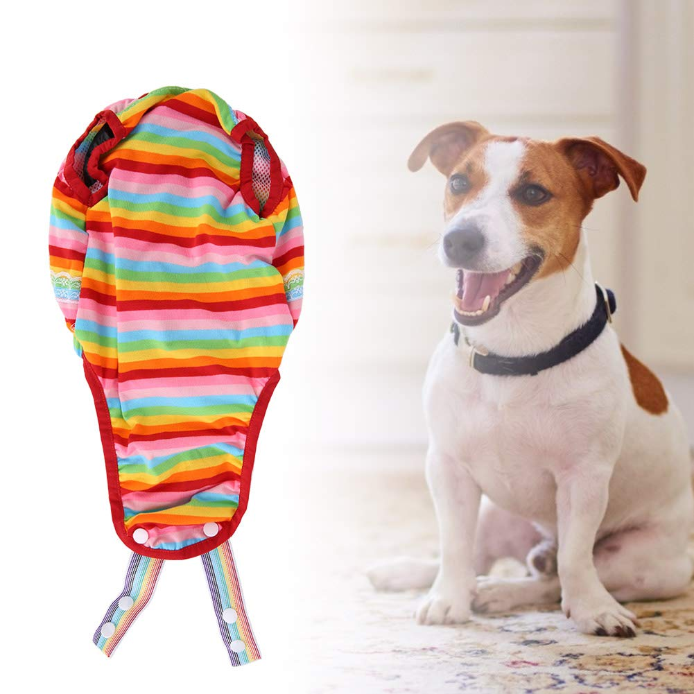 Pssopp Algod/ón Mascota Ropa Interior para Perros Pa/ñales para Perros Mascotas Cachorro Gato Bragas sanitarias Pantalones menstruales para Mascotas con Correa Ajustable M