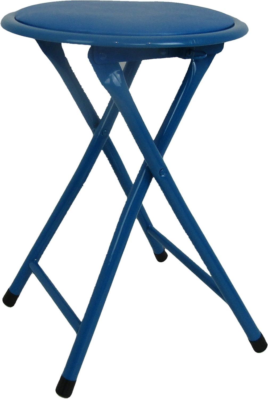 30/x 30/x 45/cm m/étal Bleu Viscio Trading Maison /& Living 173352/Tabouret Pliant