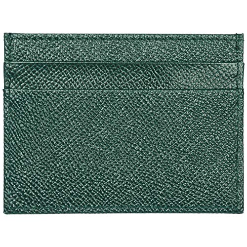 Dolce wallet credit men's amp;Gabbana holder card green leather genuine case Hqr4HwR1S