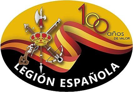 Artimagen Pegatina Oval Legión Española 100 años de Valor 65x45 mm.: Amazon.es: Coche y moto