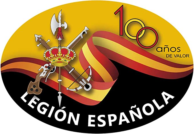 Artimagen Pegatina Oval Legión Española 100 años de Valor 80x60 mm.: Amazon.es: Coche y moto