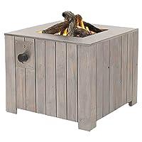 Feuerkorb XXL weiss Fire Basket ✔ eckig