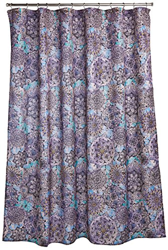 Fabric Decorator Designer - Ex-Cell Ode to Geode Fabric Shower Curtain, 70 by 72-Inch