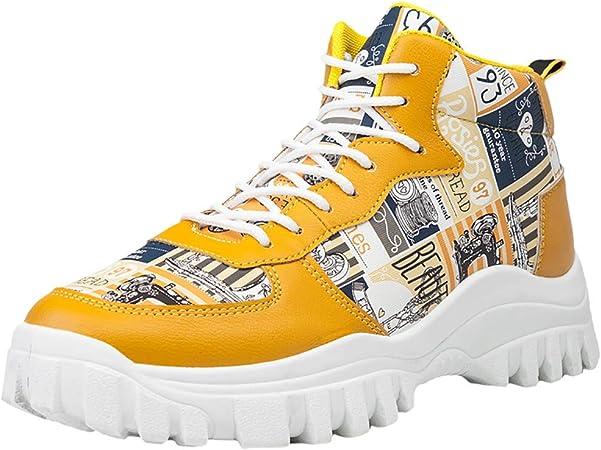 RYTEJFES Zapatillas De Deporte Deportivas con Cordones Y Transpirables Ocasionales para Hombres Zapatos De Otoño Zapatos De Marea De Lona Deportes Salvajes Zapatos De Pizarra Blanca: Amazon.es: Hogar