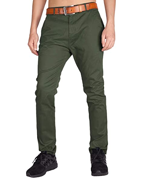 new style & luxury discount up to 60% lowest price ITALY MORN Men's Slim Fit Casual Pants Stretch Chino Khaki