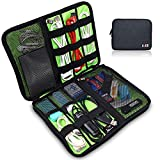 BUBM Portable Universal Electronics Accessories Organizer,Travel Gear Organizer for Phones, USB Cables,Power Banks, Cameras,Hard Disk and Etc.by SENHAI(Large,Black)