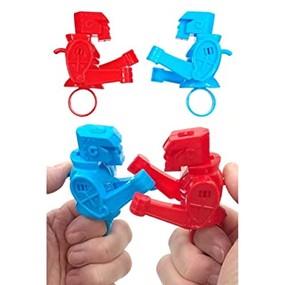 TinToyArcade Rock'em Sock'em Robots Thumb Set (Includes one Blue Robot and one Red Robot): Toys & Games