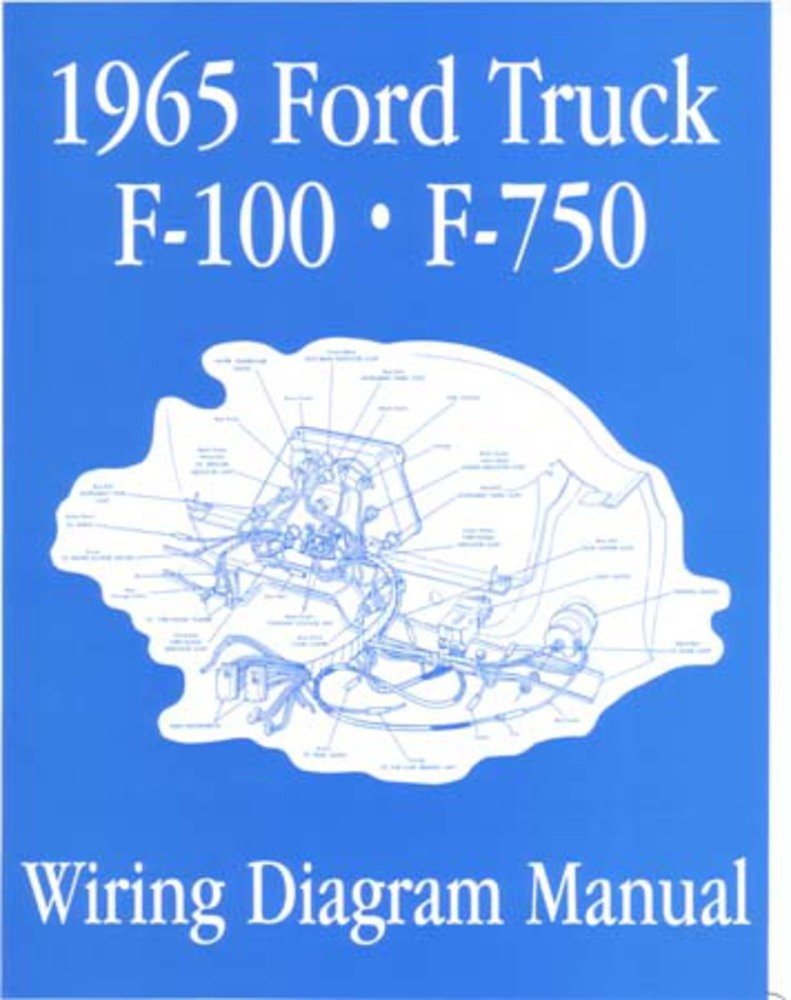 Bishko Automotive Literature 1965 Ford F 100 150 To 1956 F100 Wiring Diagram 750 Truck Electrical Diagrams Schematic Manual